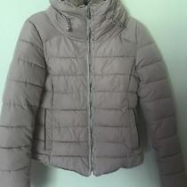 Zara Basic Padded Winter Coat With Faux Fur Collar in Blush Pink Sz Xs Mex 24  Photo