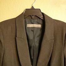 Zara Basic Woman Blazer 1 Button Dark Grey Gray Lined Xl Made in Spain Photo