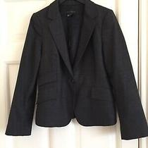 Zara Basic Wool Dark Grey Formal Blazer Jacket Suit Size 38 Photo