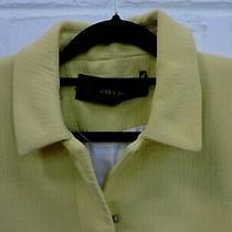 Zara Basic Yellow Blazer Style Jacket Popper Close Size Xs Photo