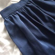 Zara Basics Blue Monochrome Panel Ruffle Hem Midi Skirt Med Bnwt 60 Photo