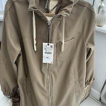 Zara Beige Leather Feel Smart Jacket Small Brand New Girls/womens 59.99 Photo