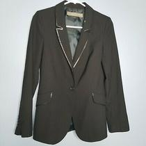 Zara Black Blazer With Sequin Elements Sz Xs Photo