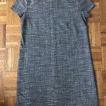 Zara Black & Cream Striped Frayed Tweed Dress Size Xs Boucle Euc Sold Out Raw Photo