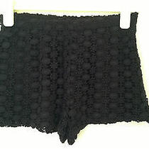 Zara Black Crochet Shorts - Size Medium Photo