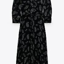 Zara Black Printed Dress Size L Photo