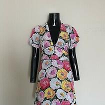 Zara Black Rose Floral Fit and Flare Dress Sz S Uk8 Photo
