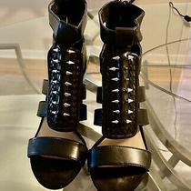 Zara Black Sandals Pre Owned Size 6 Look at Description Photo