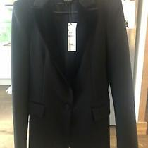 Zara Black Velvet Blazer Size M Photo