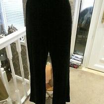 Zara Black Velvet Flared Trousers Size Large Photo
