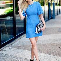 Zara Blue Denim Cape Sleeve Mini Dress Size M 7251/045 Photo