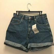Zara Blue Denim Shorts Sz 8 Nwt Photo