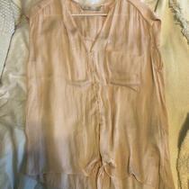 Zara Blush Blouse Tie Top Size Large Photo