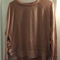 Zara Blush Long Sleeve Knit Top Ruffle Detail Size Small Photo