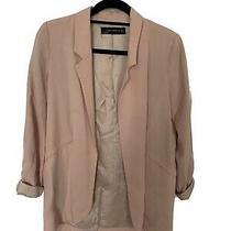 Zara Blush Pink Blazer Size Small Photo