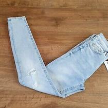 Zara Bnwt Hirise Skinny Jeans Premium Quantity Size 36 Xs Light Blue Denim  Photo