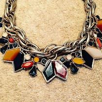 Zara Bnwt Rhinestone Crystal Statment Gold Necklace Red Blue 2014 A/w Collection Photo