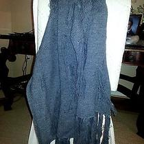 Zara Boho Acrylic & Wool Shawl/scarf Handknit Photo