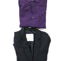 Zara Boys Dkny Boys Blazer Button Down Shirt Black Purple Size 10 Lot 2 Ll19ll Photo