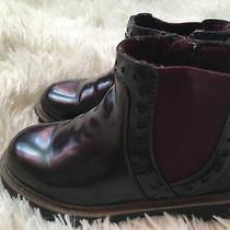 Zara Burgundy Booties Zip Side Toddler Girls Size 8 Photo