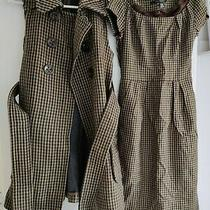 Zara Checked Waistcoat and Dress Matching Set Size S Photo