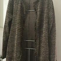 Zara Coat in Tweed Style - Excellent Condition Size Medium Photo