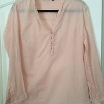 Zara Collection 100% Cotton Blush Long Sleeve Shirt Size L Photo