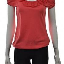 Zara Collection Basic T Shirt Womens Top Size M Pink Knit Shirt Cotton Photo