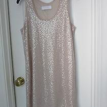 Zara Collection Blush Sequin Sleeveless Tank  Dress Sz M Photo