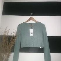 Zara Crop Jacket Cardigan Brand New With Tags Size Medium  Photo
