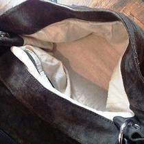 Zara Deep Green Suede Bag With Metal Detail Photo