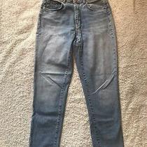 Zara Denim Jeans Blue Wash Mom Straight Leg Size Eur 38 8 10 Photo
