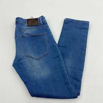 Zara Denim Jeans Mens 32x32 Blue Straight Leg Regular Cotton Medium Wash Stretch Photo