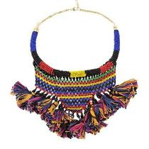 Zara Ethnic Necklace Multi-Color Photo