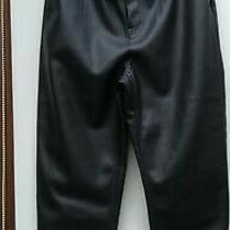 Zara Faux Leather Baggy Trousers Pants High Waist Uk Size 10 Eur Size 38 Bnwt Photo