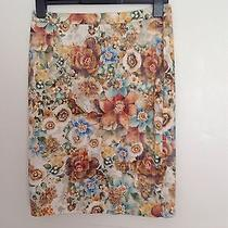 Zara Floral Skirt Size M Pre Owned Photo
