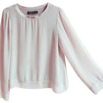 Zara Flowy Top Small 2 4 Blush Pink Ribbed Neck Stretch Lining Nwot Photo