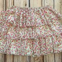 Zara Girl Flower Floral Print Tiered Skirt Size 13 14 Y 164 Cm Vguc Photo