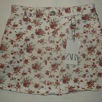 Zara Girls 11-12yrs Floral Print Skirt White Nwt Kawaii  Photo