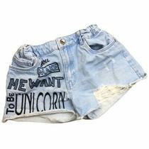 Zara Girls Denim Raw Hem Light Wash Short Shorts -Size 13/14 - Pre-Loved -Euc Photo