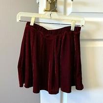 Zara Girls Soft Collection Red Velvet Flare Red Skirt - Size 11/12 Photo