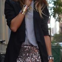 Zara Gold Bronze Sequinned Sequin Shorts Hotpants Medium M Photo
