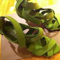 Zara Green Color Sandals Photo