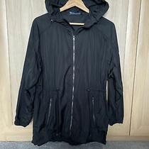 Zara Jacket Size Xs Black Coat Hood Light Weight 29.99 Fit Uk 8/10/12 Photo