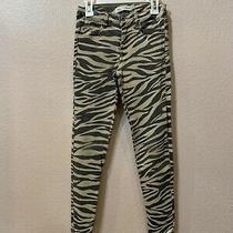 Zara Kids Girls Animal Print Jeans Pants Size 10 Photo