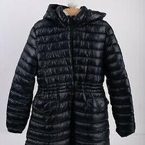 Zara Kids Girls Puffer Quilted Coat Jacket 13-14 Yrs Navy Blue Hooded Nwt Photo