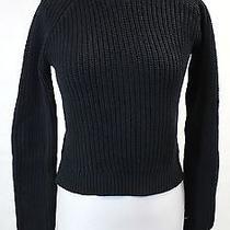 Zara Knit Black Cotton Knit Sweater M Photo