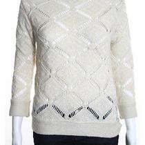 Zara Knit Ivory Long Sleeve Knit Pullover Sweater Sz S Photo