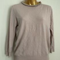 Zara Knit Nude Pink Jumper With Rose Gold Chain Size Medium Photo