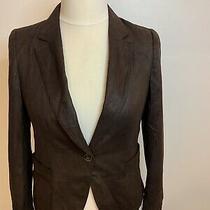 Zara Large Soft Moleskin Effect Blazer Jacket Single Breast Country Style Brown Photo